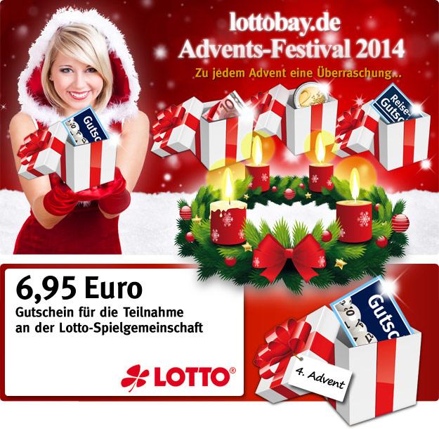 Lottobay 4. Advent: Gutschein für Spielgemeinschaft
