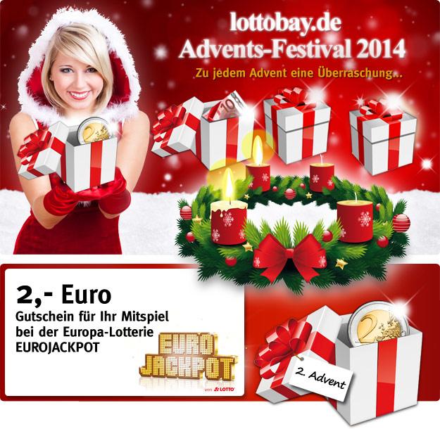 Lottobay Gutscheincode zum 2. Advent